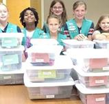 Donations from Girl Scouts