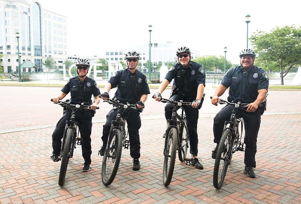 NNPD officers on bikes
