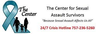 Call The Center for Sexual Assault Survivors at 757-236-5260
