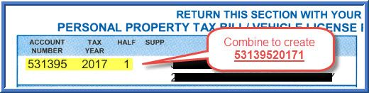 Personal property tax with supplement sample bill