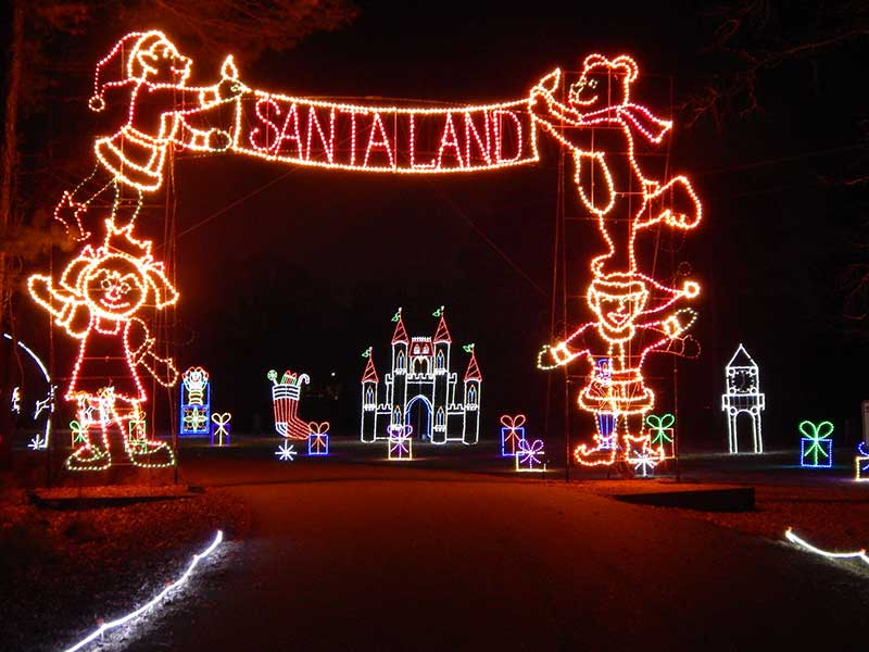 Celebration in Lights Photo of Santa's Enchanted Kingdom